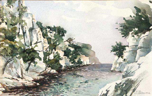 Calanque d'En Vau - Aquarelle