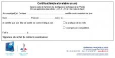 Cerificat medical ffv