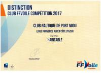 Distinction club ffvoile competition 2017