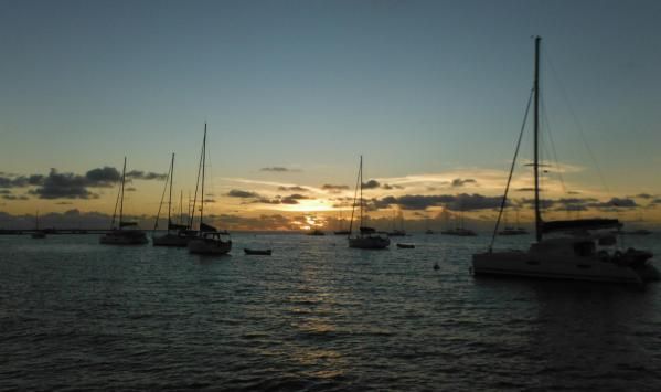 Coucher de soleil à Anegada