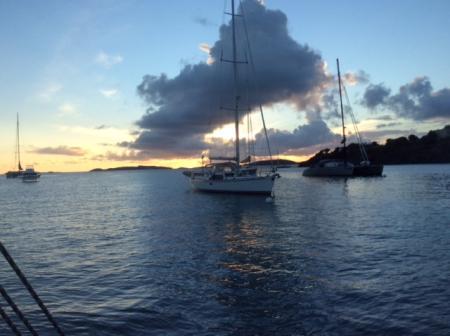 Coucher de soleil à Cruz bay