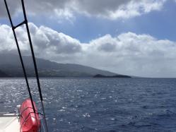 En navigation vers îlet PIGEON
