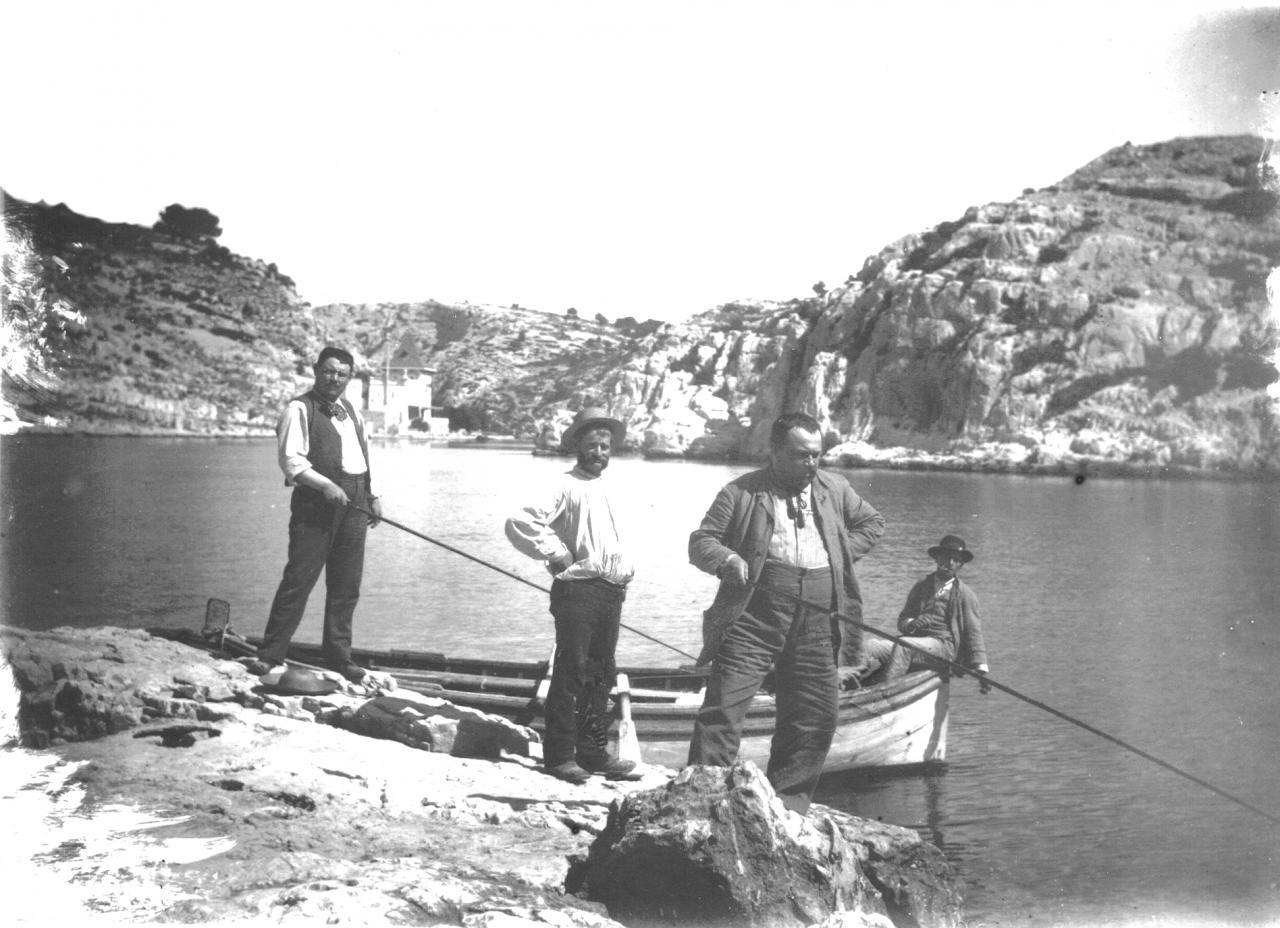 Entrée de la calanque vers 1910