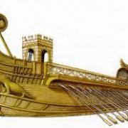 Quel nom porte cet ancien navire de guerre propulsé par deux lignes de rames ?
