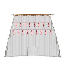 Comment s'appelle le petit cordage fixé à la voile sur les bandes de ris et servant à l'attacher ?