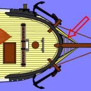 Comment s'appelle la plate-forme triangulaire à caillebotis située à l'avant d'un vaisseau ?